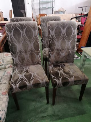 sillas con respaldo alto terciopelo