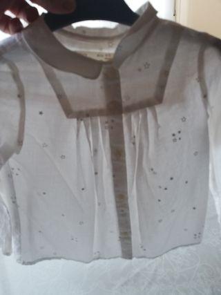 camisa zara niña 2 a 3 años nueva