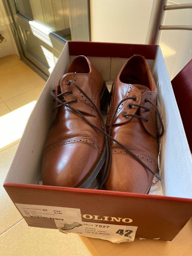 Zapatos marrones hombre Tolino T 42