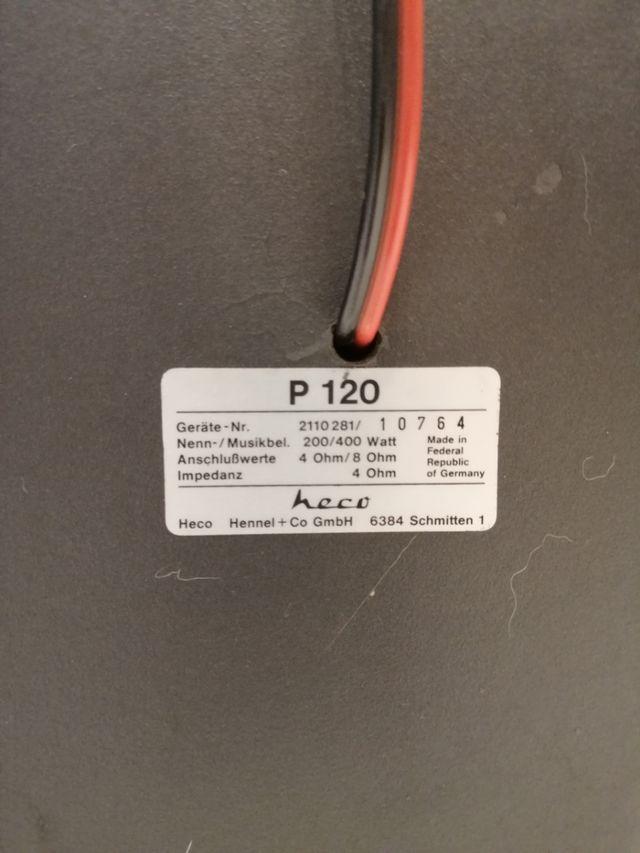 Heco P 120, altavoces vintage, alemanes.