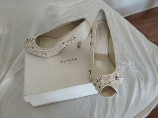 zapatos tacón novia