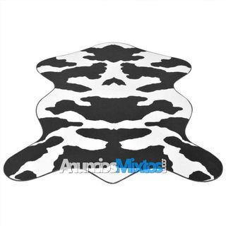 Alfombra con forma 70x110 cm estampado de vaca neg