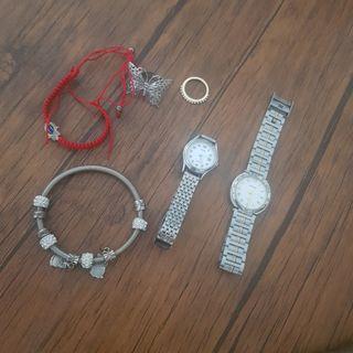 relojes, anillos, pulseras