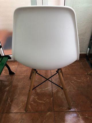 Conjunto 4 sillas diseño