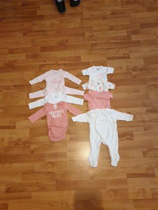 pack de bodys de niña