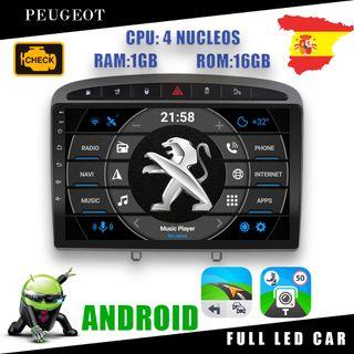 PANTALLA GPS PEUGEOT 308, 408 ANDROID WIFI USB HD