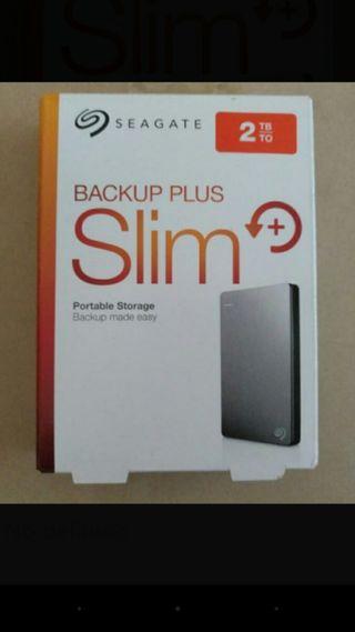 Seagate Backup Plus Slim 2TB B2.5IN USB3.0 ¡NUEVO!