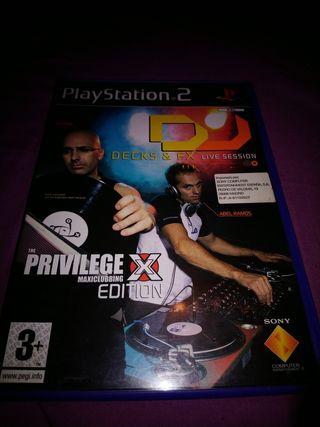 Dj decks & Fx ps2 PlayStation 2 Pal Esp Completo