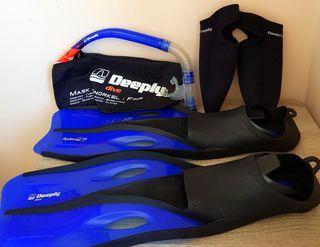 Kit de snorkel adulto, Deeply