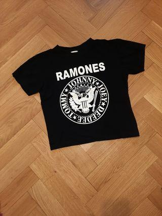 Camiseta crop Ramones talla XS/S