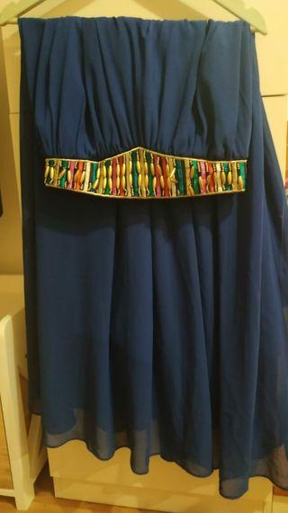 falda larga azul talla única
