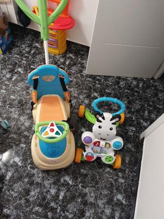 Andador bebé Zebra y cochesito Nenuco baby 5en 1