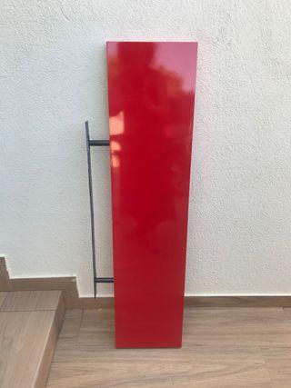 Balda IKEA LACK rojo lacado