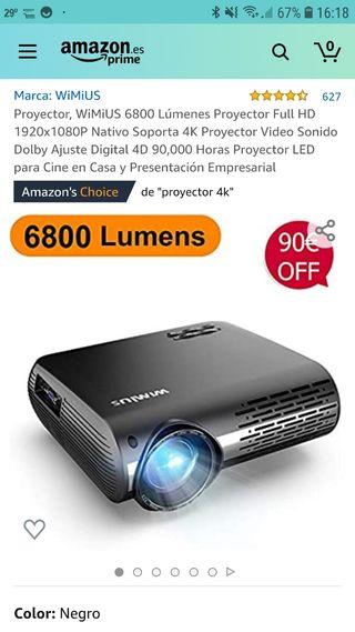 Proyector wimius p20 4k 6800 lumenes