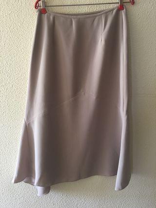 Falda larga beige/crudo