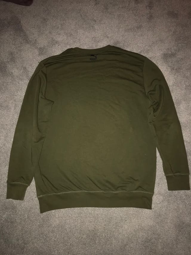 Khaki green puma sweatshirt