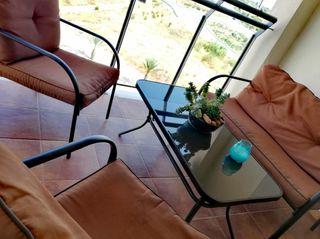 conjunto mesa terraza o jardín