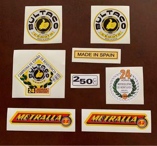 Pegatina para Bultaco Metralla 62, vinilos vintage
