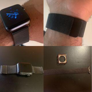 Correa metálica negra para Apple Watch