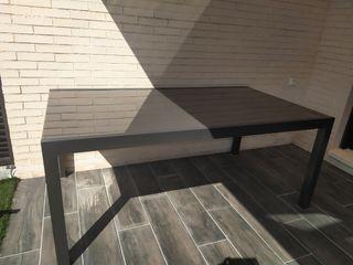 Mesa jardín aluminio extensible