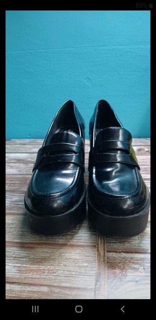 mocasines negros talla 40