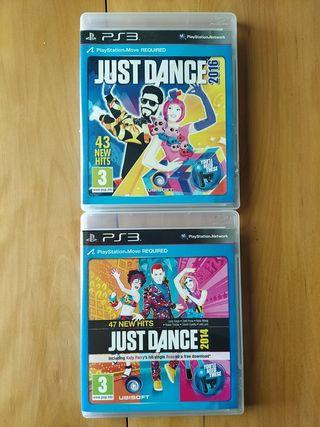 Juegos PS3 (Just Dance 2016-2014 )