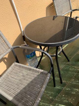 Mesa y sillas jardin/terraza