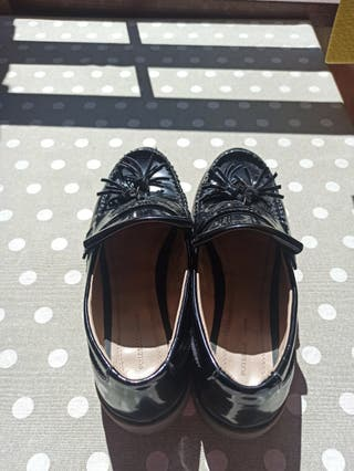 mocasines negros de mujer