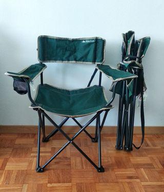 2 sillas plegables de Decathlon