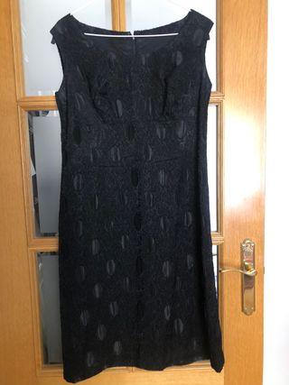 Vestido de cóctel negro talla 44