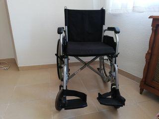 Silla de ruedas de alumnio + cojin antiescaras