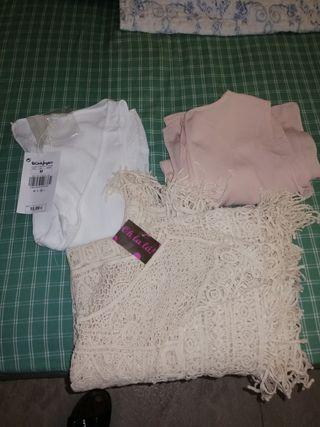 lote de dos camisetas y una blosa
