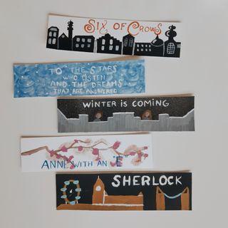 Marcapáginas Juego de tronos Sherlock Anne w an E