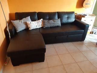 Sofa cama esquina Ragunda (Ikea), almacenaje