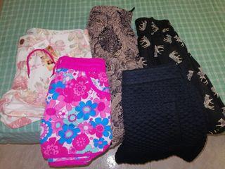 lote de pantalones cortos y chort falda