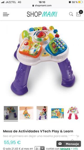 Mesa de actividades y juego para bebés y niños
