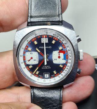 Reloj chrono vintage NEW OLD STOCK marca RELAND
