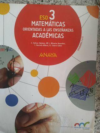 LIBRO MATEMÁTICAS 3 ESO ( UNIDADES 1-5)