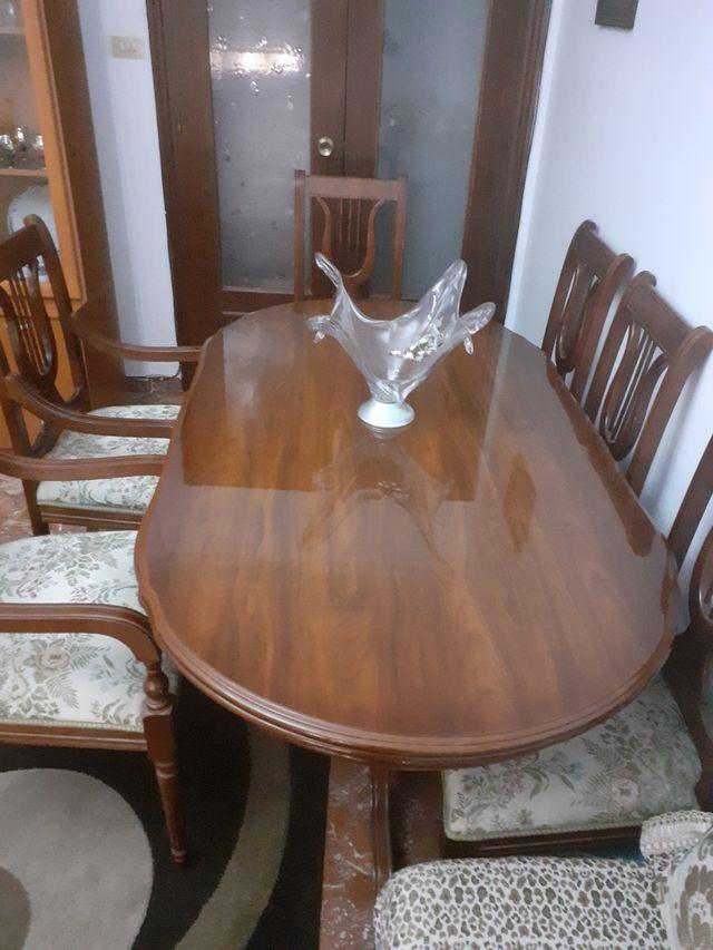 mesa para comedor con seis sillas