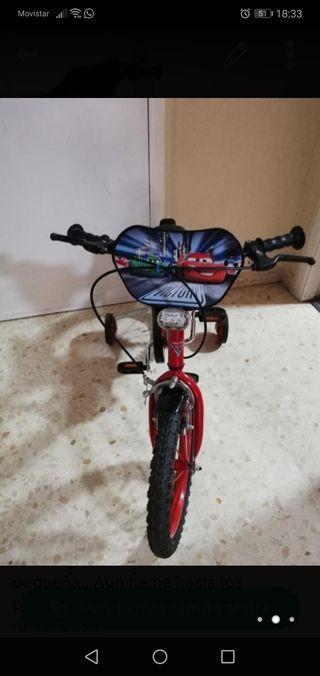 """bicicleta16"""" niño/a de rayo macqueen nueva."""