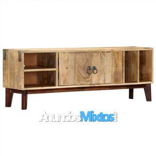 Mueble para TV de madera maciza de mango rugosa 11