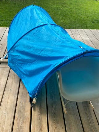 Dosel azul para cama Ikea Kura
