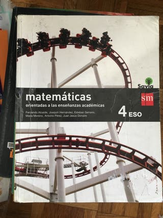 Libro de matemáticas académicas 4ESO