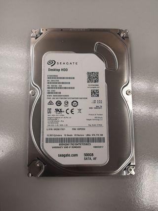 Disco duro Seagate 500GB de 3'5
