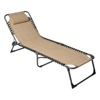 Tumbona plegable con respaldo reclinable