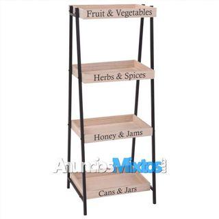 Home&Styling Estante de almacenamiento acero y