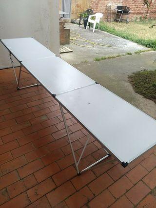 Mesa plegable aluminio de 3m