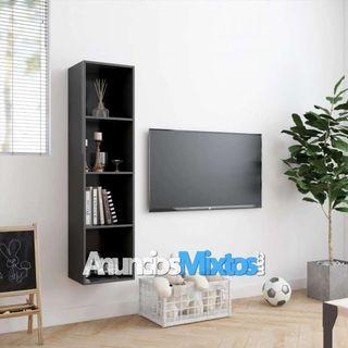Estantería/mueble para TV gris 143x30x36 cm