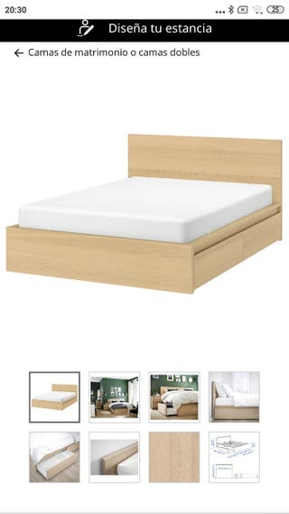 cama de madera Ikea 140*190