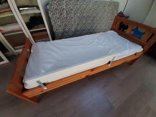 Cama Ikea niños 70x160 con colchón